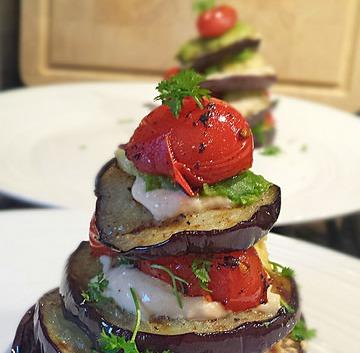 aubergine taartje