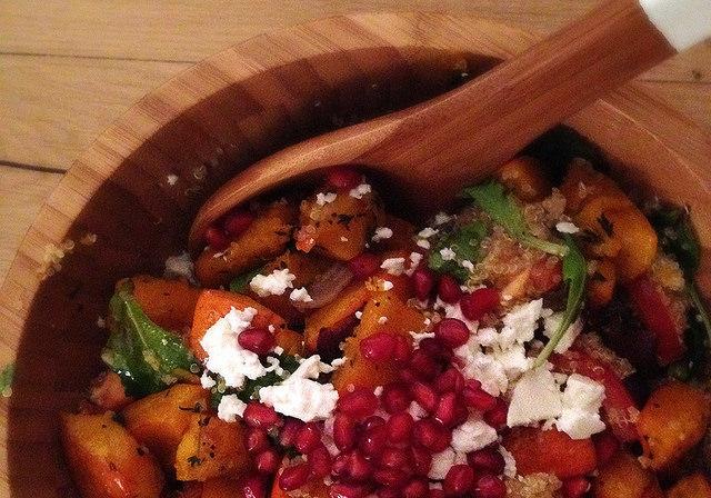 quinoa pompoen salade