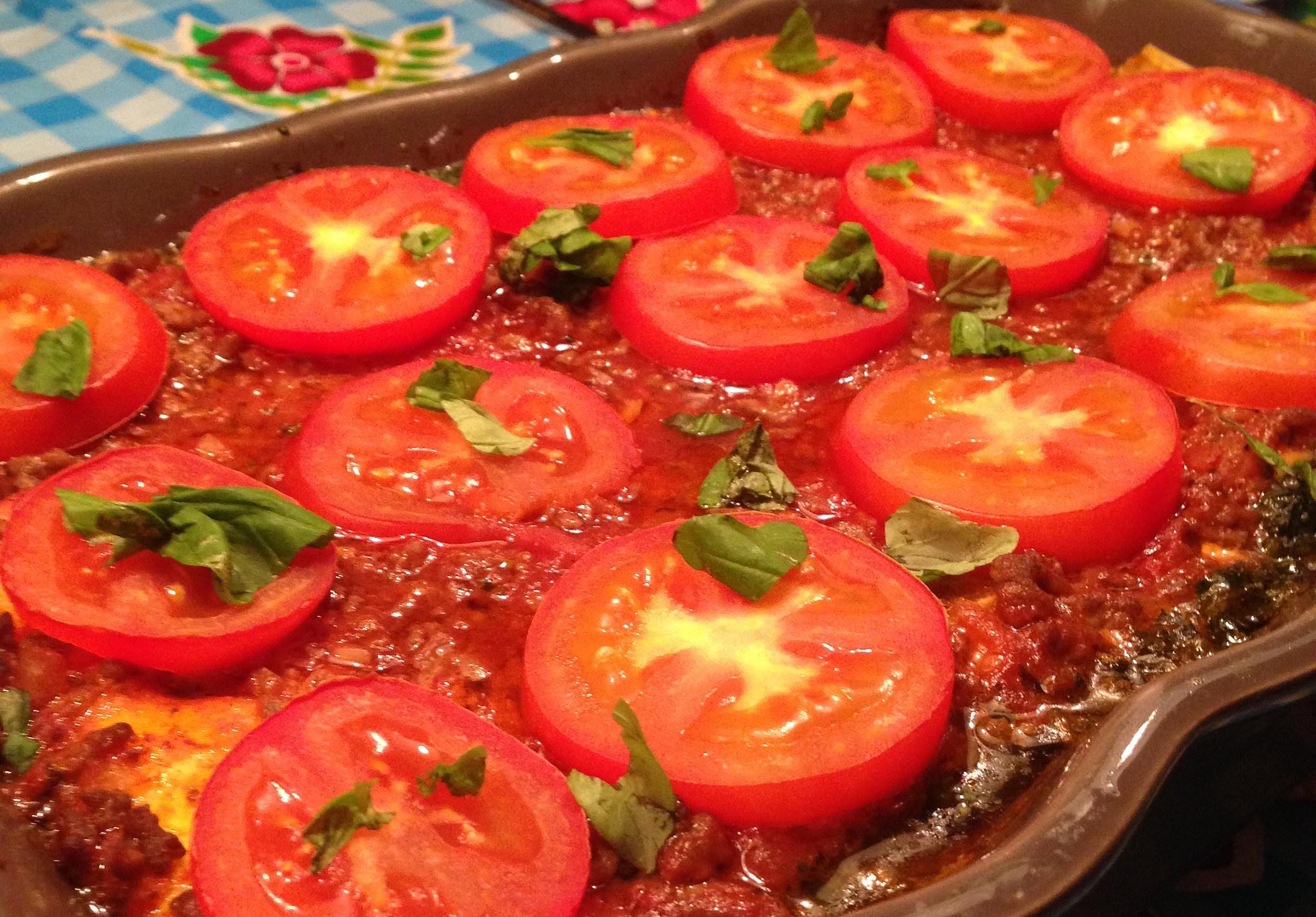 lasagne met spinazie en blauwe kaas