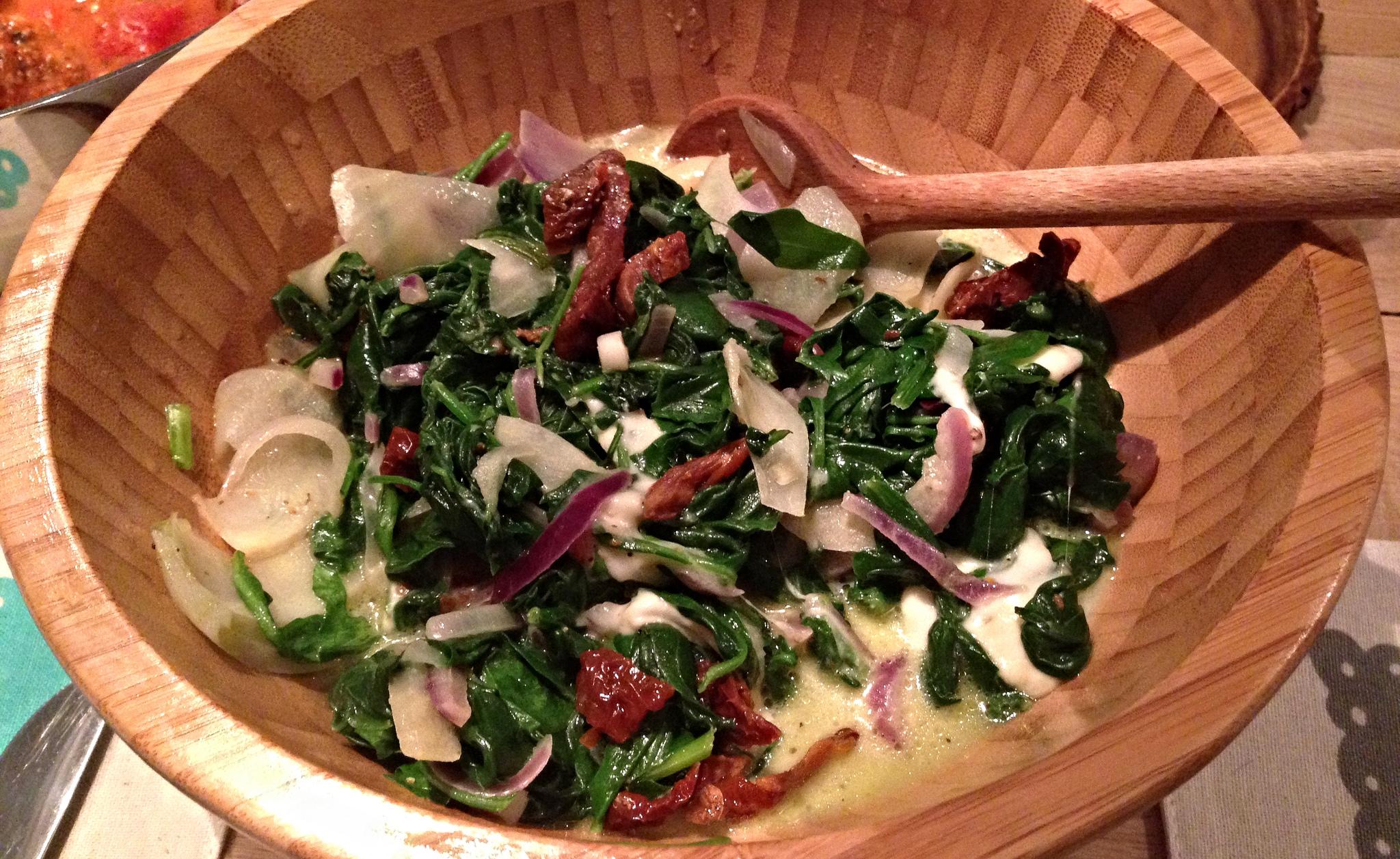 mozzarella spinazie