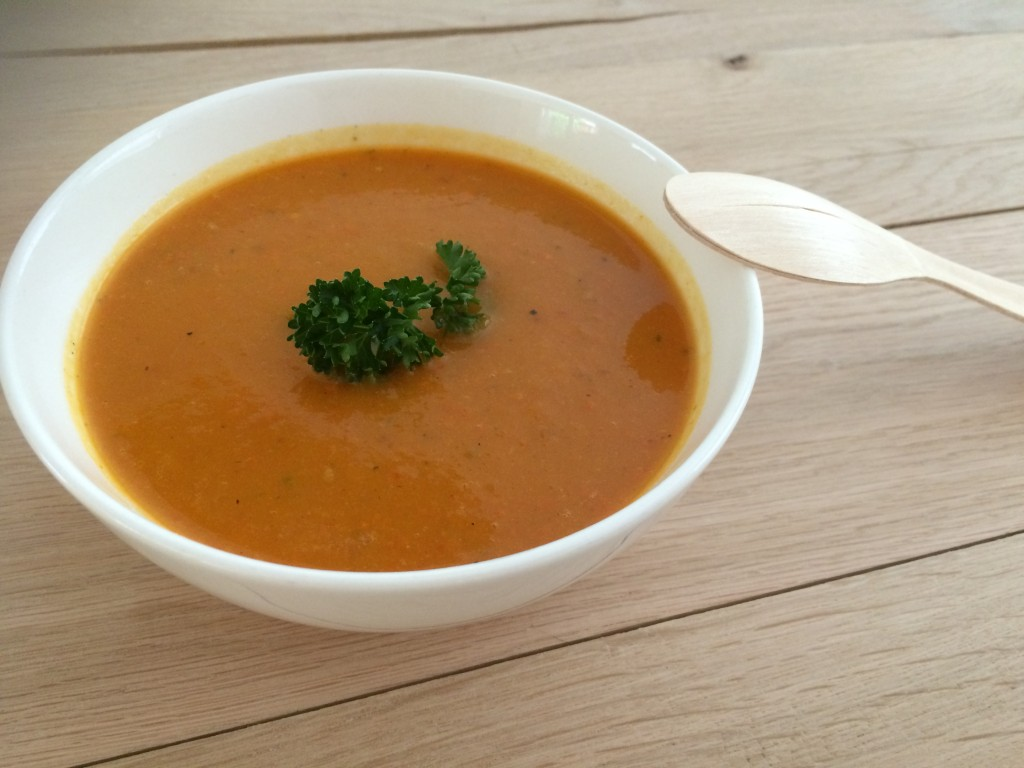 pompoen paprika soep