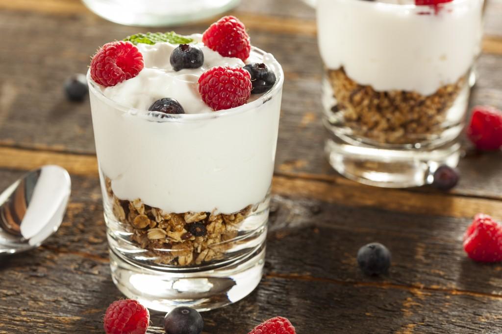 Yoghurt met een smaakje