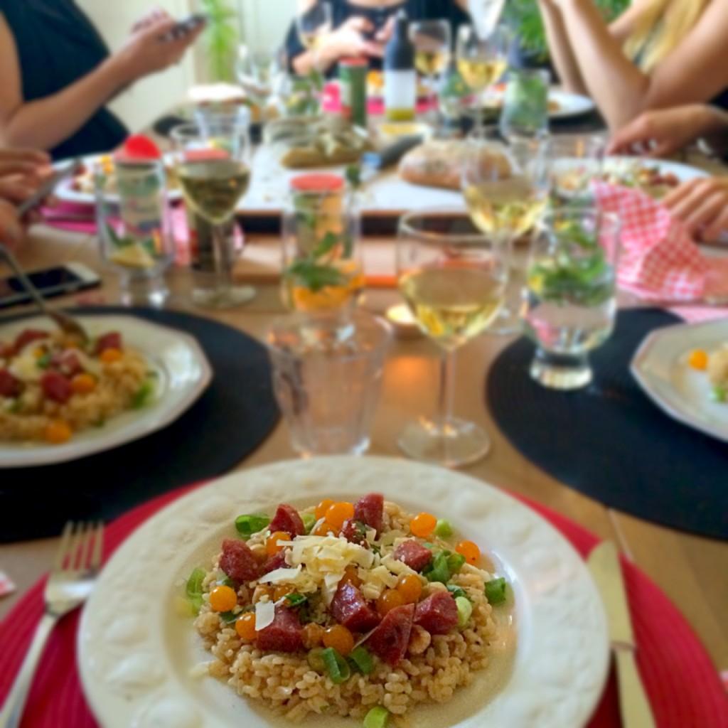 risotto met truffelworst