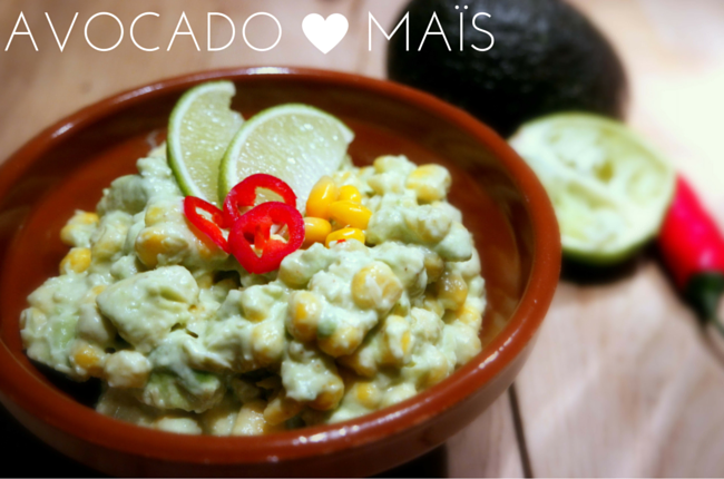 mais avocado salade