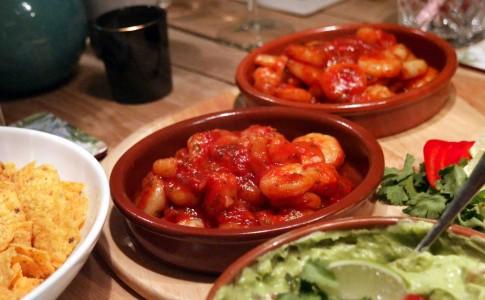 garnalen in tomatensaus