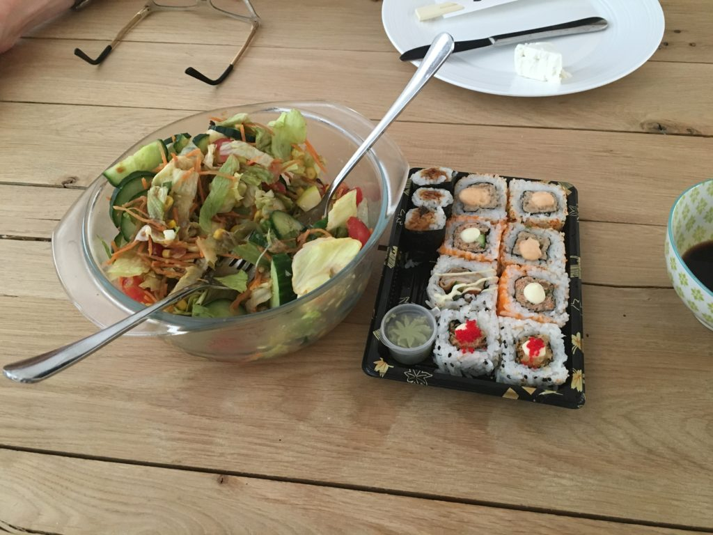 salade en sushi