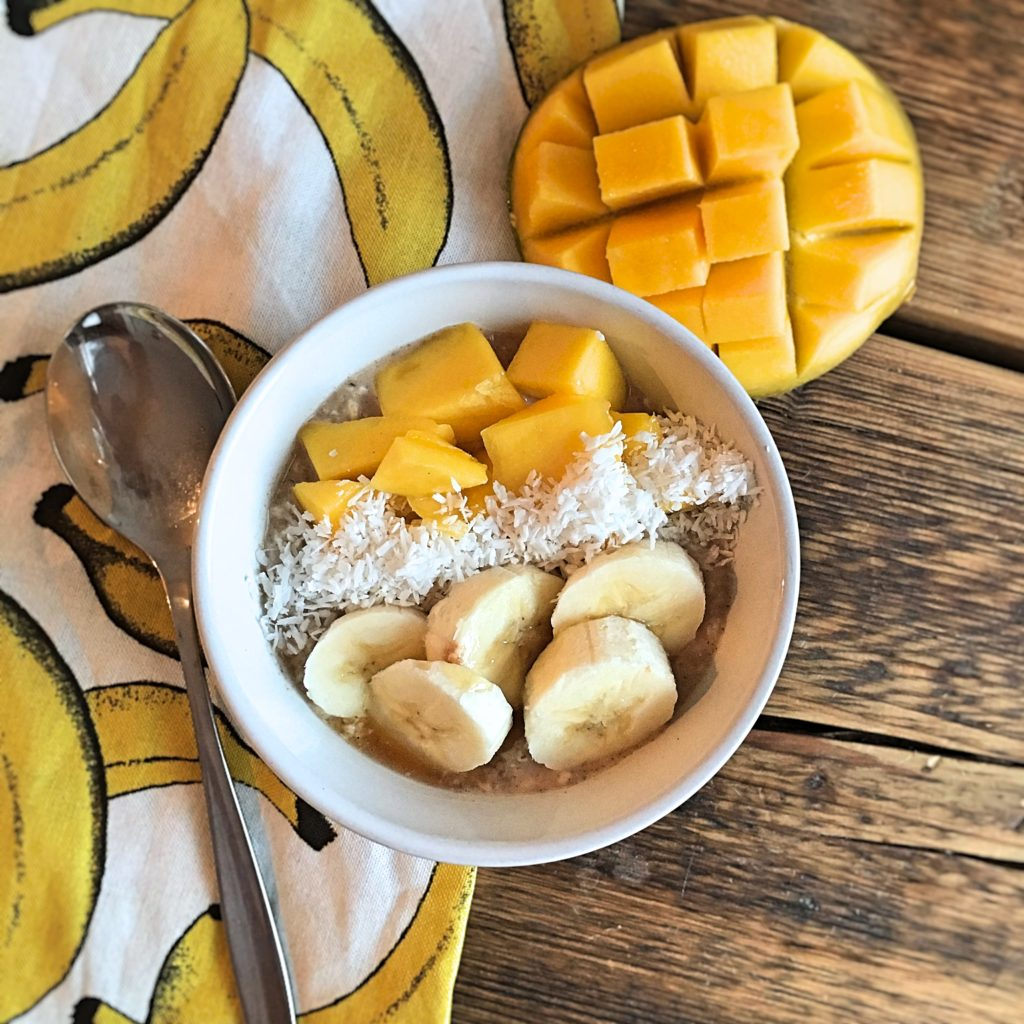 havermout ontbijt mango