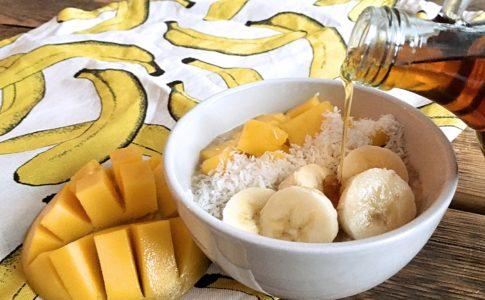 havermout ontbijt mango banaan