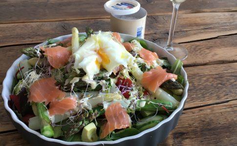 salade met asperges