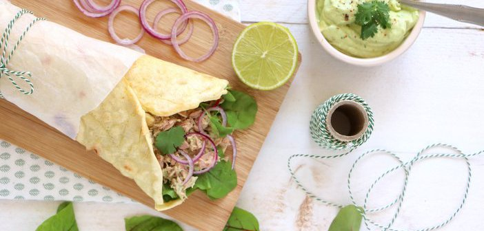 Spelt wrap met tonijn en avocado