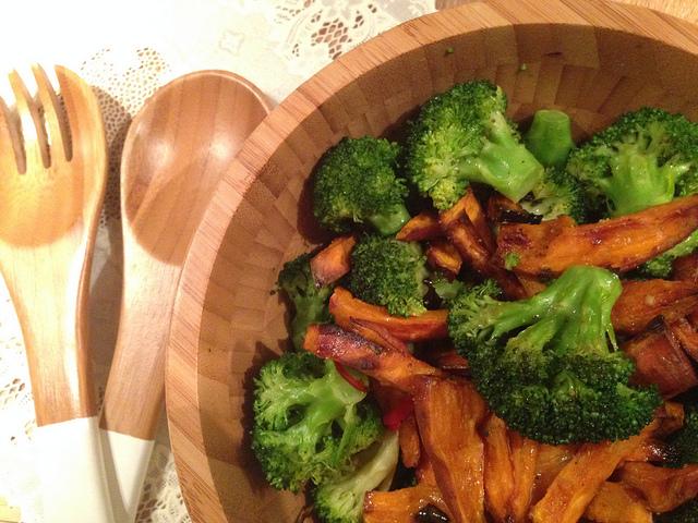 broccoli met zoete aardappel