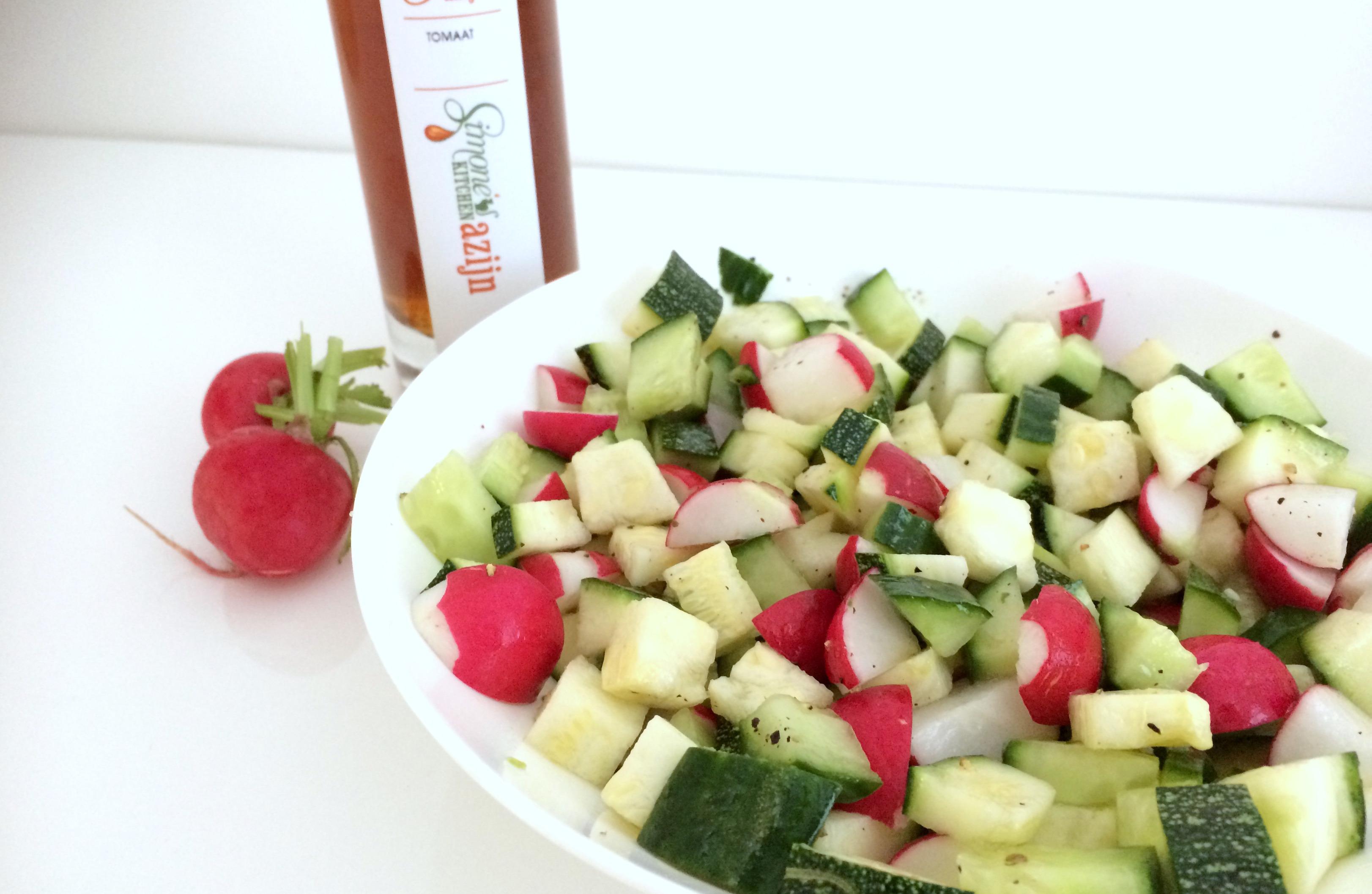 courgette radijs salade