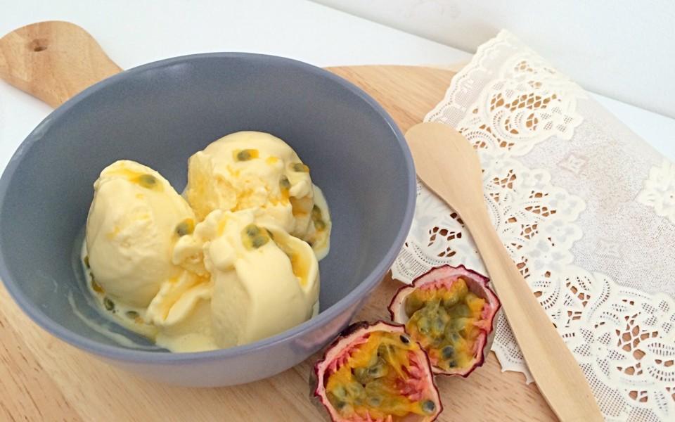 mango - passievrucht yoghurtijs
